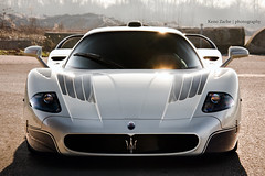 Italian Evilness (Keno Zache) Tags: sun white car photoshop dessert photography italian shining rare mc12 maserati spoiler v12 photoshooting evilness keno cs5 zache 632hp