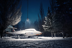 (dSavin) Tags: trees winter snow night plane russia manipulations 83 hdr rollover latern yaroslavl 2012 redstar     sonyalpha   ihdr