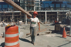 Contruction worker at Westlake Center, 1988 (Seattle Municipal Archives) Tags: seattle workers construction women working 1980s downtownseattle westlakecenter seattlemunicipalarchives femaleconstructionworkers