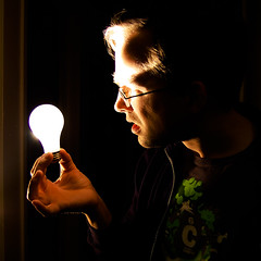(1/52)  Alternative Energy (RLHyde) Tags: light portrait selfportrait lightbulb nikon power magic sb600 alternativeenergy electricity wtf carbon incandescent 52 superpowers powersource 52weeks incandescentlight weirdscience carbonfootprint strobist nikond40 incandescentlightbulb lightbulbsun