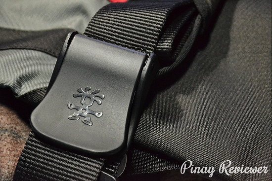 Crumpler logo on strap lock