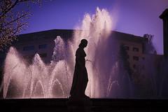 Fountain (Charlie Wild) Tags: barcelona sculpture espaa fountain silhouette statue backlight contraluz spain fuente catalonia escultura catalunya silueta catalua ltytr1 estata
