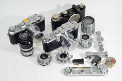 1930's Leica's, lenes and accessories (jonshort58) Tags: camera leica old film vintage nikon mount accessories leicai d7000 iiileica iiialensscrew