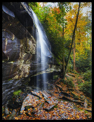 Slick Rock Falls {Explored} (Marvin Foran Photography) Tags: fallleaves waterfall northcarolina falls pisgahnationalforest westernnorthcarolina transylvaniacounty naturethroughthelens waterfallsofwesternnorthcarolina slichrockfalls