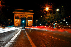 arc de triomphe (Keeboon Tan) Tags: paris france car slowshutter lighttrails arcdetriomphe