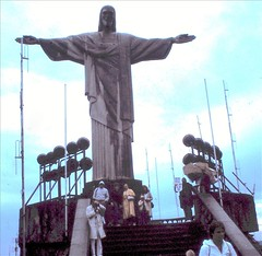 1982 Rio de Janeiro Corcovado (Gillian Everett) Tags: brazil southamerica riodejaneiro 1982 corcovado