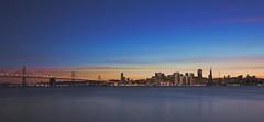 San Francisco Glow (namcie) Tags: sanfrancisco sunset treasureisland citylights baybridge sanfranciscobay cityskyline nightphotograpghy