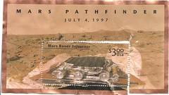 stamp 1997 $3.00 Mars Rover (sftrajan) Tags: usa unitedstates stamps stamp 1997 timbre collecting postagestamp philately sello sellos philatelic postagestamps briefmarke  timbres marspathfinder filateli philatelie     marsroversojurner frimerkesamling