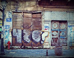 Ioannina, Greece - January 2012 (PattyK.) Tags: city urban streetart abandoned nikon ruins europa europe decay hometown urbandecay neglected citylife wallart urbanart coolpix balkans myphoto citycenter whereilive europeanunion oldcity mycity lifeinthecity urbanlife  urbanabstracts nikoncoolpix urbanfragments ioannina giannina inthecity giannena epirus  greekcity ipiros   oldandbeautiful lovelycity      jannina jannena       anexartisias       anexartisiasstreet mybeautifulhometown