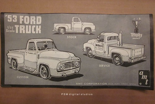 1953 Ford F100 Pickup Truck Amt 125th Scale Kit Instructions A