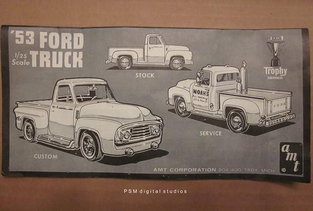 1955 1954 boxart 1956 1953fordf100pickuptruck amt125thscaleplasticmodelcar troymichigantrophyseries
