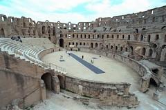 Roman Colloseum at El Jem (becklectic) Tags: 2003 roman northafrica tunisia stadium eljem scannedfromfilm 03229n19979025a