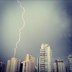 (Caetano Brasil) Tags: storm building brasil clouds square sopaulo squareformat bolt lightning relampago caebrasil iphoneography instagramapp xproii uploaded:by=instagram foursquare:venue=4d5f14f5149637040faad294