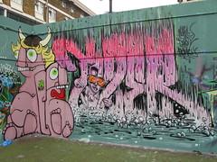 Motor + Tizer graffiti (duncan) Tags: london graffiti motor brixton tizer stockwell