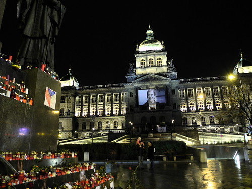 Václav Havel Memorial, Wenceslas Square, Prague