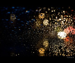 departure (elmofoto) Tags: california red white abstract water car rain weather northerncalifornia yellow 50mm lights evening bokeh fav20 raindrops intersection norcal fav30 500v fav10 afsnikkor50mmf14g elmofoto btaws lorenzomontezemolo