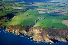 Green and pleasant Cornwall (snowyturner) Tags: green landscape cornwall aerial fields farms patchwork cessna englishchannel valleys looe polruan hedgerows