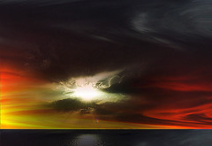 Pintura virtual (Jocarlo) Tags: sunset sky sun art sol clouds amanecer photowalk melilla montajesfotográficos photowalkmelilla pwmelilla jocarlo