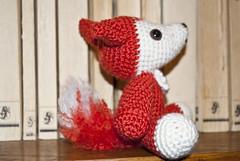 Mr.Fox (ItsyBitsyAmi) Tags: red white cute crochet yarn fox kawaii amigurumi mrfox safetyeyes