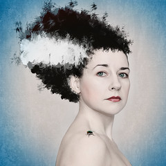 """Day 165/365 """"She's ALIVE!"""" (Beth Duri) Tags: selfportrait composite photoshop canon project artistic painted creative series 365 brideoffrankenstein housefly maryshelley movieinspired bookinspired bethduri"""