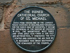 Photo of Cathedral Church of St Michael black plaque
