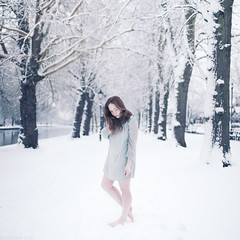 (Cat Lane Photographer) Tags: blue winter selfportrait snow cold bedford frost photographer embankment catlane