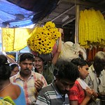 "Vendors Pushing Through the Crowds at Howrah Flower Market <a style=""margin-left:10px; font-size:0.8em;"" href=""http://www.flickr.com/photos/14315427@N00/6829207135/"" target=""_blank"">@flickr</a>"