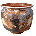 "<b>Picnic Jar</b><br/> Marguerite Wildenhain (1896-1985) ""Picnic Jar"" Ceramic, ca. early 1970's LFAC #2002:04:12<a href=""http://farm8.static.flickr.com/7157/6831797479_77413ef5ed_o.jpg"" title=""High res"">∝</a>"
