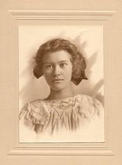 Edith E. Hile - age fifteen (sctatepdx) Tags: portrait found librarians portlandor multnomahcounty vintageportrait edwardianportrait edithehile