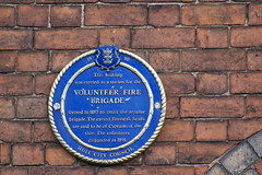 Photo of Volunteer Fire Brigade blue plaque