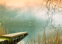 The Jetty (PeterYoung1.) Tags: mist scotland scenic atmospheric lochard