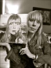 Joni and me (skintone) Tags: portrait musician canada love me clouds blackwhite artist album canadian singer poet record jonimitchell songwriter skintone