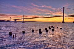 Bay Bridge Sunrise (Jeremy Duguid) Tags: california bridge sky water colors clouds sunrise project bay san francisco day cloudy jeremy sanfran 365 34 duguid 366 coth5 jeremyduguid