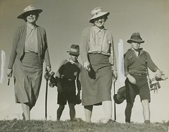 Mother and daughter play off in a golf final, Brisbane (State Library of Queensland, Australia) Tags: golf queensland golfers statelibraryofqueensland slq golfqueensland