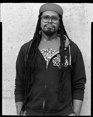 Malakai Edison, 31 (Robert Kalman) Tags: men streetportrait 4x5 largeformatportrait