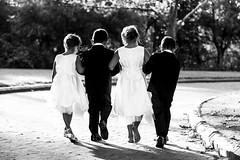 Page Boys & Flower Girls (Caramel Kisses Photography) Tags: wedding shadow blackandwhite sunlight walking path australia adelaide behind flowergirl southaustralia pageboy