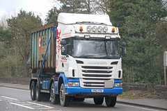 Scania G400 Skip Loader MEC Demolition FN12 YSK (SR Photos Torksey) Tags: road truck transport lorry commercial vehicle loader skip freight scania logistics haulage hgv lgv