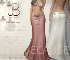 Just BECAUSE Elise Maxi Skirt - opens at Uber (Just BECAUSE_SL) Tags: sexy belt long floor mesh body skirt sl chain just secondlife jb hud length because uber maxi belleza fitted maitreya slink
