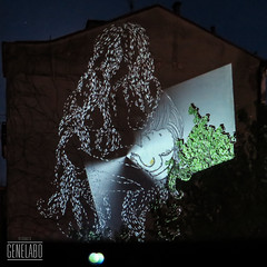 child (genelabo) Tags: light building art festival munich mnchen square video women animation noise visual gebude fassade mobility projected glocke quadrat projektion blumenstrasse glockenbachwerkstatt majmoon mllerstrasse genelabo corneliusstrasse