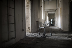 untitled (james_drury) Tags: urban abandoned college hospital chair decay wheels exploration wrecked trashed urbex explored canonef2470mmf28liiusm