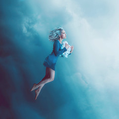 The Rising Spire (Kindra Nikole) Tags: blue sky woman cloud inspiration girl electric lady stars rising fly gallery cloudy dream inspired floating lightning float risen thunder soar kindra nikole