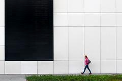 Size of Human (dalibor.papcun) Tags: woman geometric square walk step instant kosice aupark