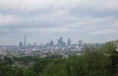 City skyline viewed from Nunhead reservoir (John Steedman) Tags: uk greatbritain england london unitedkingdom nunhead grossbritannien     grandebretagne