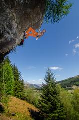 DSC_6263-2 (Fras333) Tags: rock climb countryside perthshire climbing rockclimbing strathyre schist sportclimb