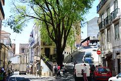 Lisbon street view with Cathedral (kalakeli) Tags: portugal cathedral lisbon may churches cathedrals kathedrale kirchen mai impressions lissabon impressionen 2016