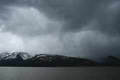 Angry Sky (cbmtax) Tags: travel lake storm water rain clouds landscape nationalpark wyoming grandteton