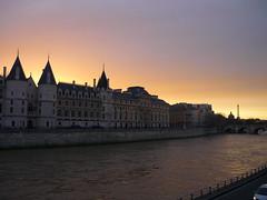 Paris Sunset (SixthIllusion) Tags: travel sunset paris france seine river