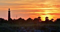 RCN_0177 (LilGoose10) Tags: light sunset sun lighthouse house set landscape scenery florida