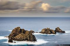 Os Aguillns (Pablo Mauriz Photography) Tags: cabo ortegal rocks seascape sunset sea clouds galicia cario nubes costa acantilado mar puesta de sol anochecer la corua roca larga exposicion litoral