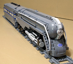 Dreyfuss_Hudson_05 (SavaTheAggie) Tags: lego steam engine locomotive hudson 464 henry dreyfuss new york central system nyc railroad train trains streamlined streamliner j3a